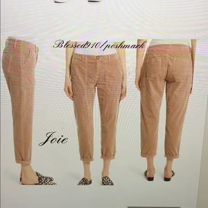 Joie cropped blush chino trousers
